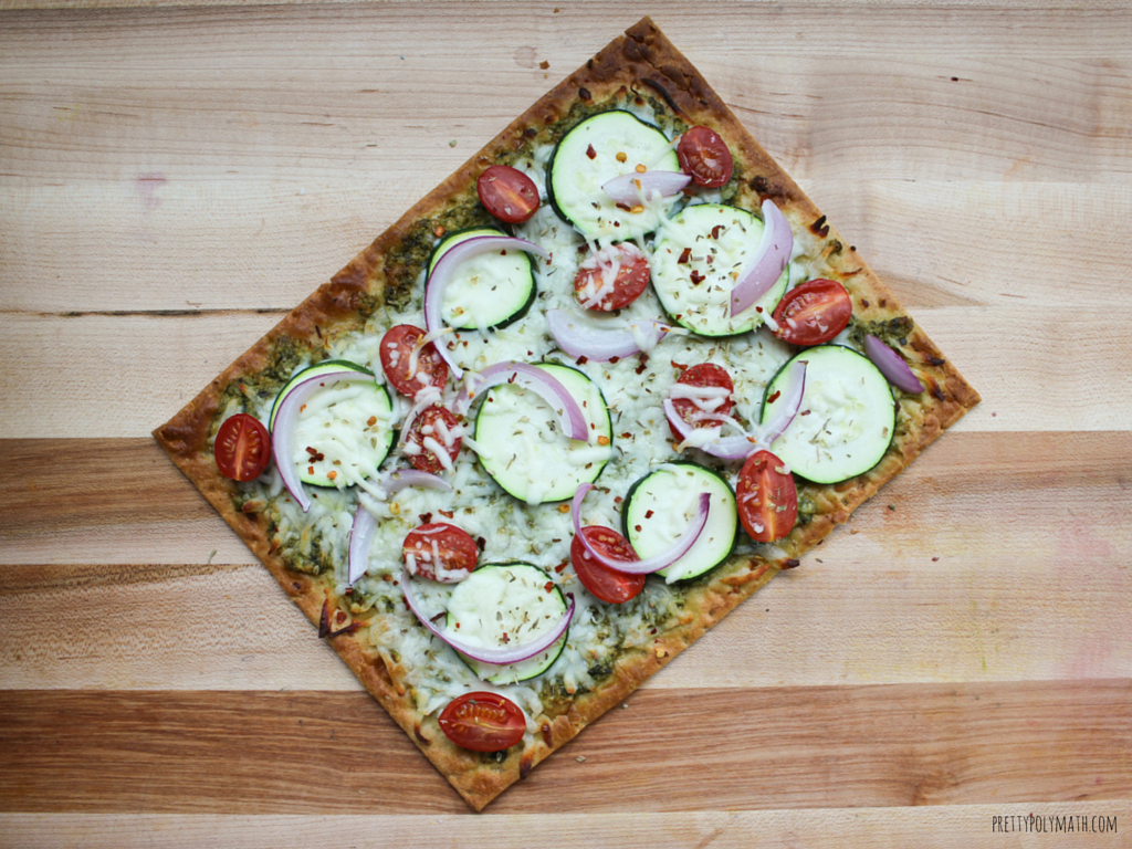 Pesto Veggie Flatbread Pizza (1)