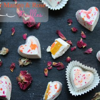 Kesar Mango and Rose Truffles