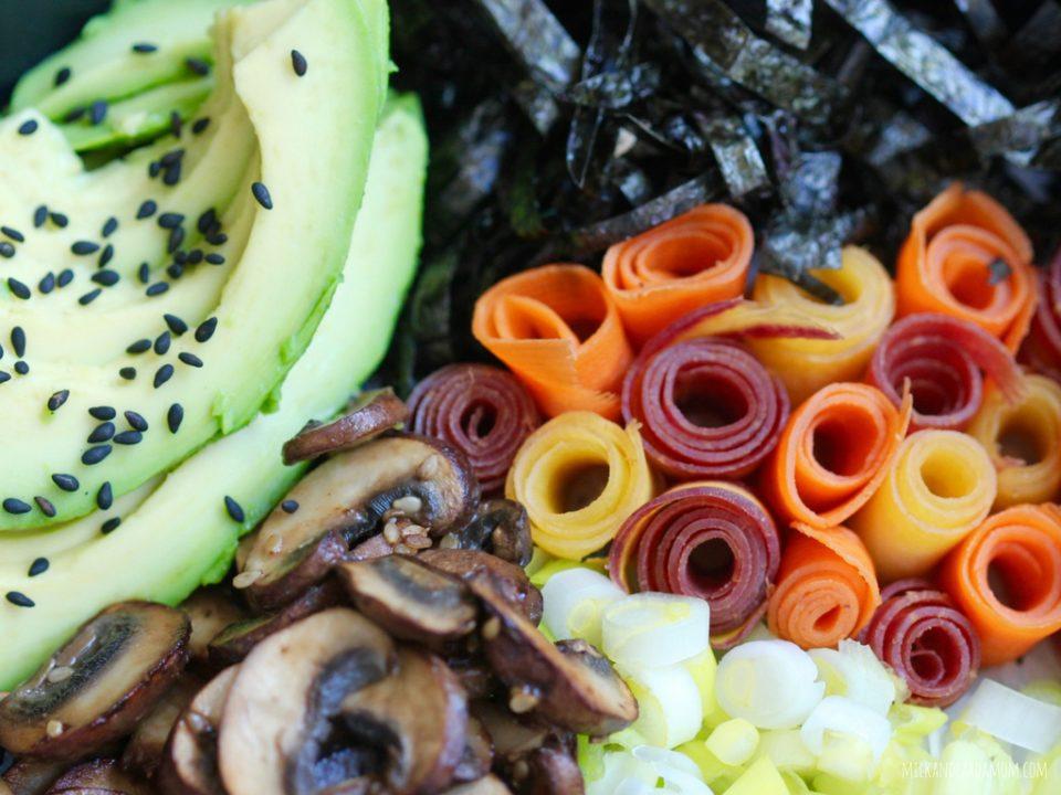 Spicy Veggie Sushi Bowl | Milk & Cardamom
