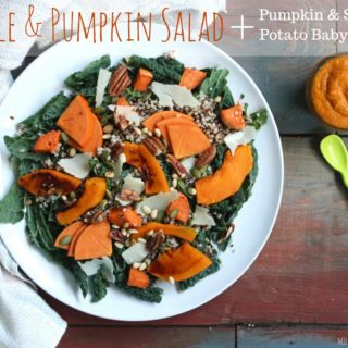 Kale and Pumpkin Salad and Pumpkin & Sweet Potato Baby Food