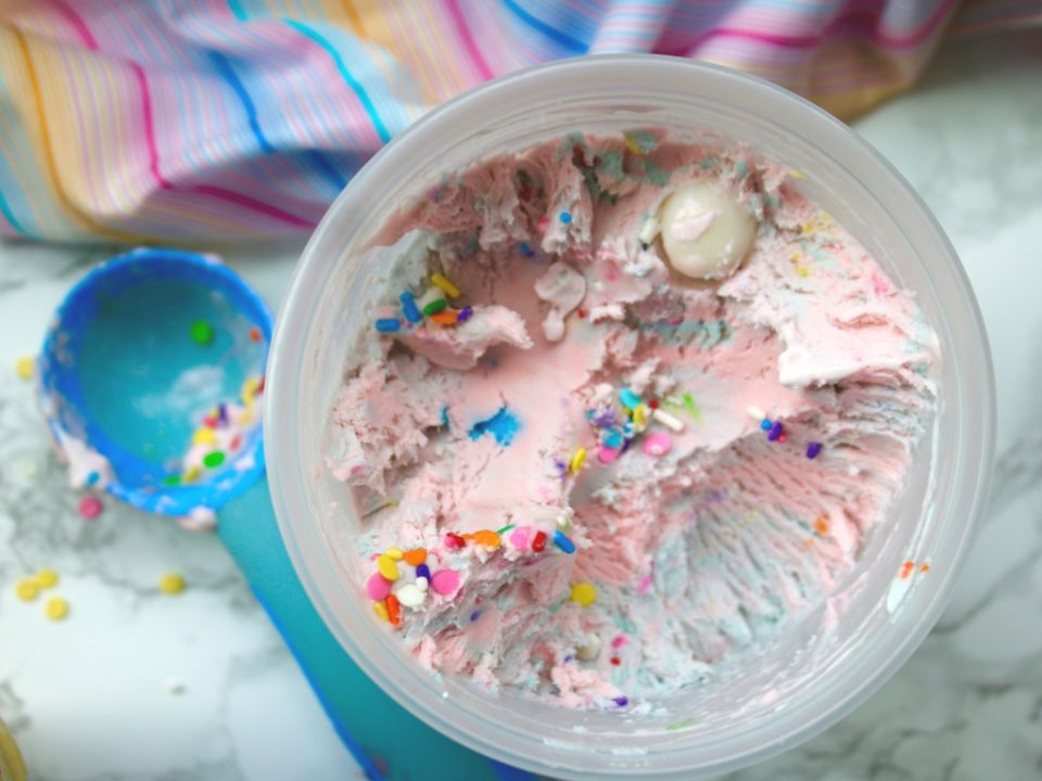 Cotton Candy & Bubble Gum No Churn Ice Cream