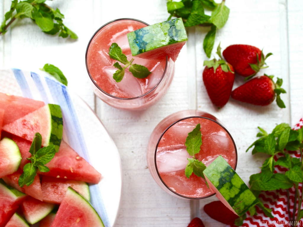 Watermelon and Strawberry Agua Fresca