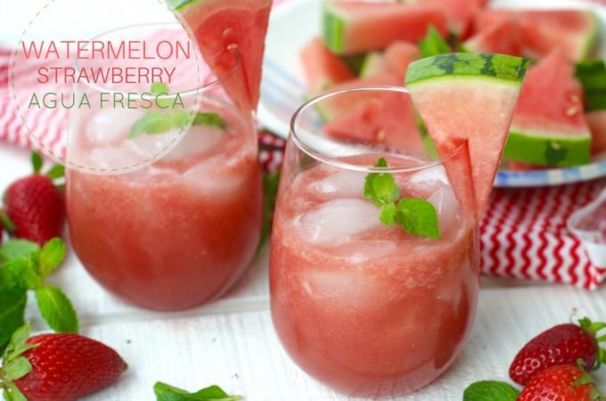 Watermelon and Strawberry Agua Fresca