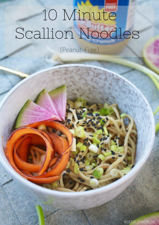 10 Minute Scallion Noodles (Peanut Free)