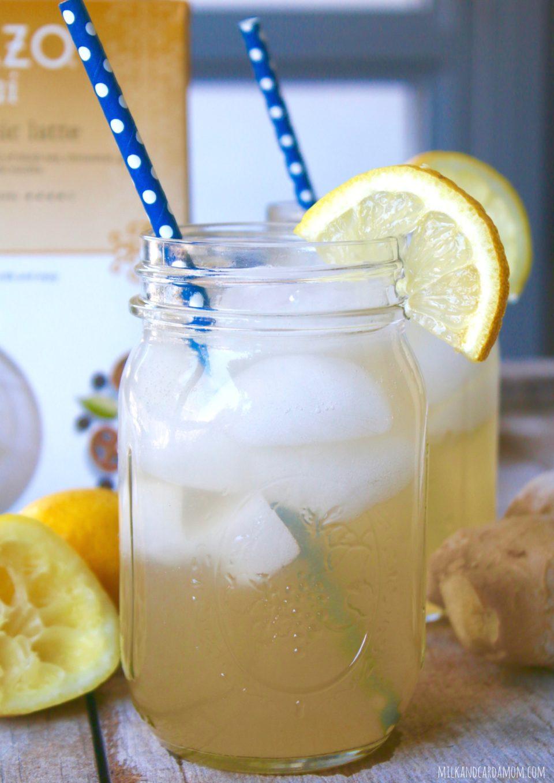 Iced Ginger Lemon Chai | Milk & Cardamom